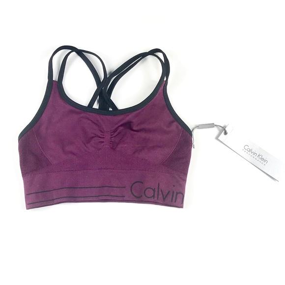 403eb55d3d5 Calvin Klein Women Sports Bra Dark Purple. NWT